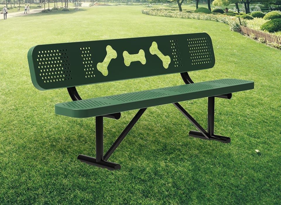 dogipark, bone bench, park bench, animal