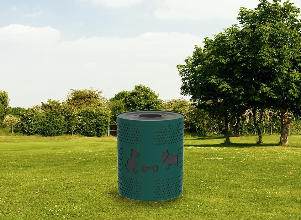 dogipark, trash receptacle, trash can, dog poop