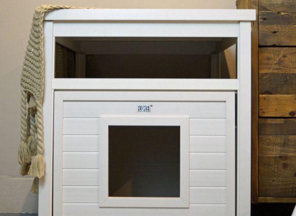 litter box end table - antique white jumbo