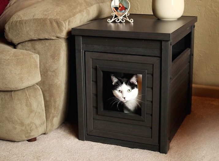 litter box end table - espresso